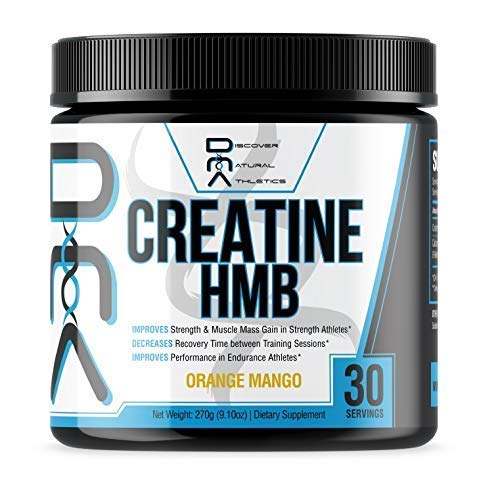 Creatine HMB – Discover Natural Athletics – DNA – Creatine HMB for Men and Women, Increase Muscle Size and Strength, Improve Workout Recovery – 30 Servings