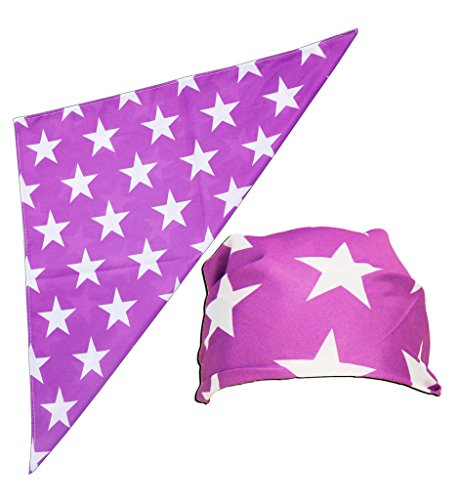 Macho Man Star Printed Costume Bandana (Purple)