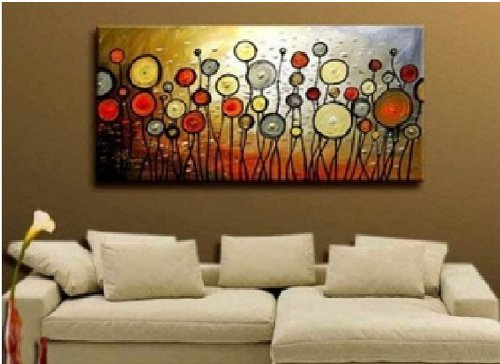 Santin art large size jubilation hand made abstract oil for Home decor uae