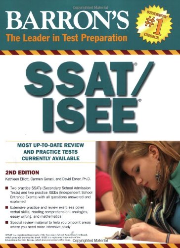 Barron's SSAT/ISEE (Barron's: The Leader in Test Preparation)