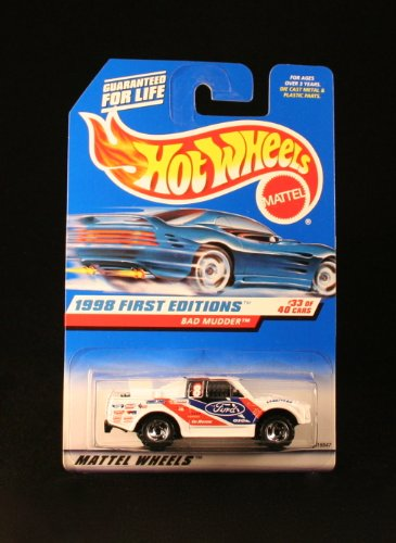 Hot Wheels - 1998 First Editions - Bad Mudder - Ford Truck - Die Cast - Racing Paint Job - #33 of 40 Cars - Collector #662 - Limited Edition - Collectible 1:64 Scale (Hot Wheel Baja Truck compare prices)