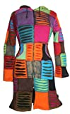 322 RJ Patch Long Cotton Bohemian Fleece Jacket (Multi 1, L)