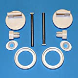 2 Toilet Seat Hinges A11 Full Set DIY Easy Fitting Bath Bathroom Repair Kit Pan by Toilet Hinges/Screws