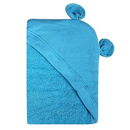 Minene – niños bebé baño toalla delantal con capucha con orejas de oso, 70 x