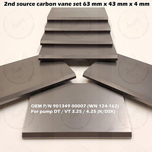 Carbon vane 7pcs PM kit for Becker Pump DT/VT 3.25/4.25 KSK 901349 00007 WN124-162 Dimension: 63mm 43mm 4mm