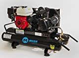 Gasoline Powered Air Compressor - 6.5 HP Honda GX200 Engine 10 Gallon Wheel Barrow
