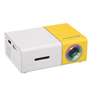 Excelvan YG300 - Mini LED Proyector Port¨¢til (400-600 Lumenes, Soporta 1080P, Proyecci¨®n 24