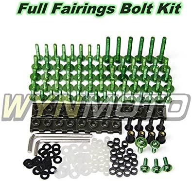 Black WYNMOTO Fit Suzuki GSXR1000 K5 2005 2006 gsxr-1000 05 06 Full Motorcycle Fairings Aluminum Fasteners Bolt Kit Bodywork Screws Hardware Clips