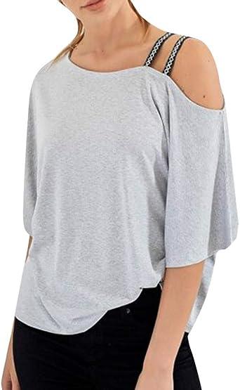 Lurcardo Camisetas Mujer, 2019 Camiseta de Mujer Manga Corta Correa asimétrica Fuera del Hombro Blusa Camisa Casual Manga Corta Basica Camiseta Suelto Verano Tops Casual Fiesta T-Shirt Original tee: Amazon.es: Relojes