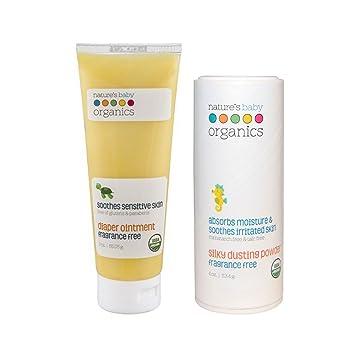 3f611e54bd Nature's Baby Organics Diaper Rash Cream 3 oz & Organic Baby Dusting Powder  4 oz Value