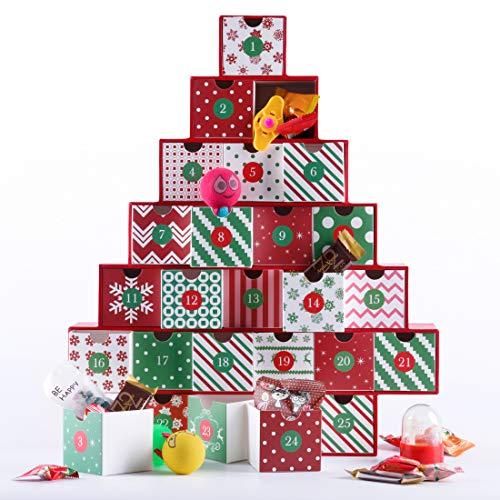 VIVOHOME Treasure Box Advent Calendar with Gift Drawers for Kids Countdown to Christmas