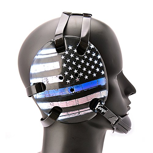 Geyi Wrestling Headgear Thin Blue Line American Flag Digital Printing Art