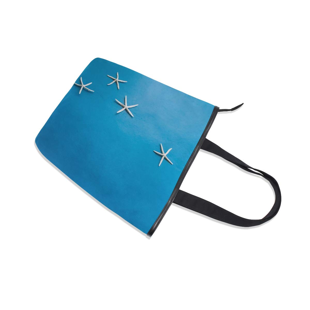 Books Daily Use SHANGLONG Womens Starfish Blue Canvas Tote For College School Laptop