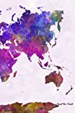 Journal Your Travels: World Map Watercolor Travel Journal, Lined Journal, Diary Notebook 6 x 9, 180 Pages (Travel Journals)