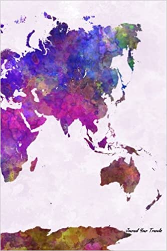 Journal your travels world map watercolor travel journal lined journal your travels world map watercolor travel journal lined journal diary notebook 6 x 9 180 pages travel journals journal your travels gumiabroncs Images