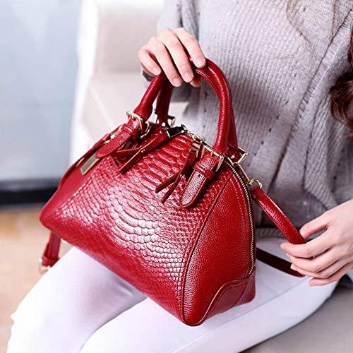 Shell donna moderna Function per Multi diagonale Borsa nera Creative Borsa a Borsa blu Bag a Borsa acqua tracolla Fashion Serpent tracolla qXEawg