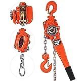 Happybuy 1.5 Ton Lift Lever Block Chain Hoist 5Feet Chain Come Along Portable Come Along Puller Lift Hoist