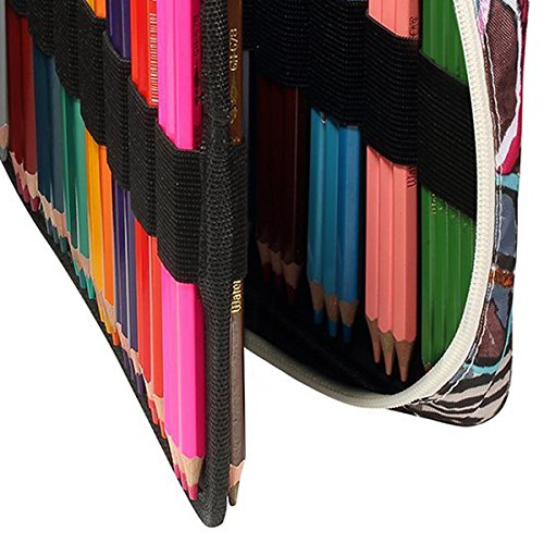 Nrpfell 150 Slots Colored Pencils Universal Pencil Bag Pen Case School Stationery PencilCase Drawing Painting Storage Pouch Pencil Box(Eyeglass Painted) by Nrpfell (Image #8)