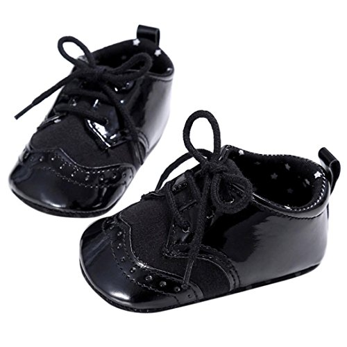 Elevin(TM)Infant Girls Boys Spring Anti-slip Soft Sole Crib Flat Prewalker Sneaker Shoes (12~18 Month, - Fashion 5dollar