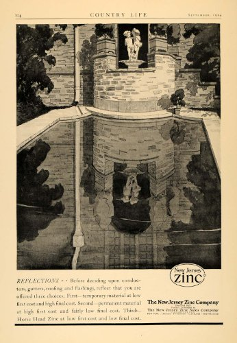 1924-ad-new-jersey-zinc-gutter-flashing-reflection-art-original-print-ad