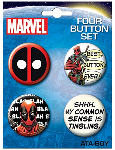 Ata-Boy Marvel Comics Deadpool Assortment #3 Set of 4 1.25