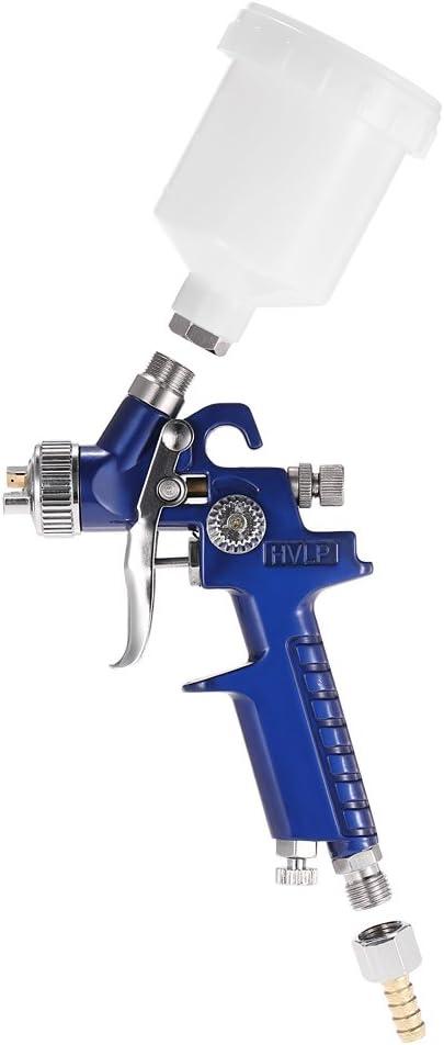 KKmoon - Kit de aerógrafo HVLP, pistola de aire pulverizador de pintura por gravedad con difusor de 0,8mm para retoques y pintura de coches