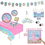 Llama Theme Party Supplies – Birthday Bundle for 8 Includes Party Decorations, Themed Plates and Cups, Cupcake Toppers and Wrappers, Birthday Pin, Game and More