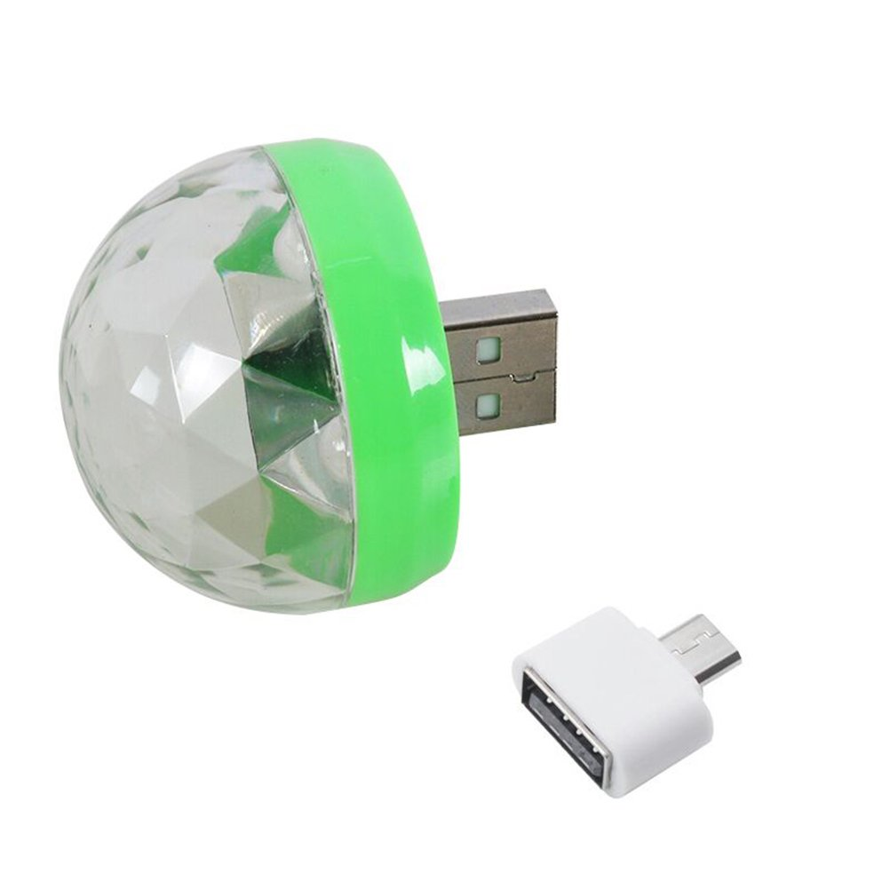 UKCOCO USB Powered Sound Activated Mini Multi-Colour LED Disco Light Magic Ball Portable Home Party Light Stage Effect Light Bulb with a Adapter For Android Device