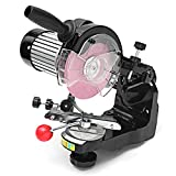 K&A company 110-120V Electric Chainsaw Sharpener with Grinding Wheels Bench Saw Chain Grinder Tools, US 3-pins Plug