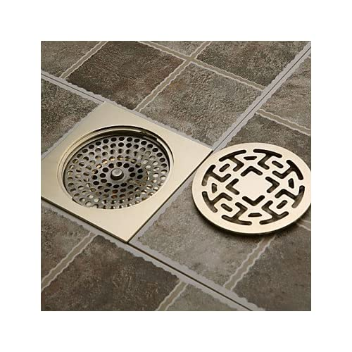 lanmei Bathroom Accessory Antique Ti-PVD Finish Solid Brass Floor Drain 70%OFF