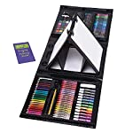 Kids 179-Piece Double Sided Trifold Easel Art Set