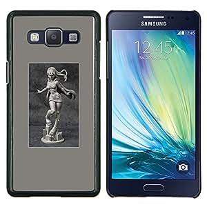 Estatura mármol atractivo cartel Mujer Chica- Metal de aluminio y de plástico duro Caja del teléfono - Negro - Samsung Galaxy A5 / SM-A500