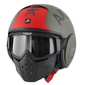 Shark casco de moto Drak Soyouz, color negro/rojo, talla XS