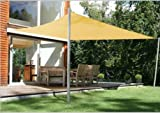 Rectangle Sun Shade Sail Patio Deck Beach Garden Yard Outdoor Canopy Cover Choose (16x12 Rectangle, Sand)