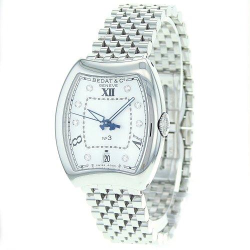 Bedat Women's 315.011.109 No. 3 Steel Bracelet Automatic Diamond Dial Watch