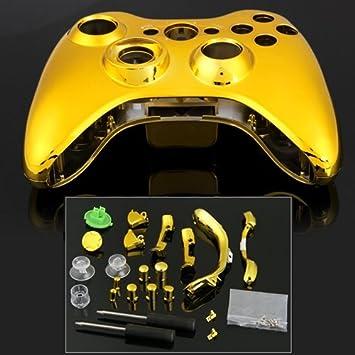Carcasa Cromado Mando Botón Dorado Herramientas para Xbox 360