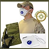 Urban Survival NAR NIOSH N95 Protective Respirator Mask with Carbon Layer for Nuisance Level Organic Vapors - Military Pack Sealed