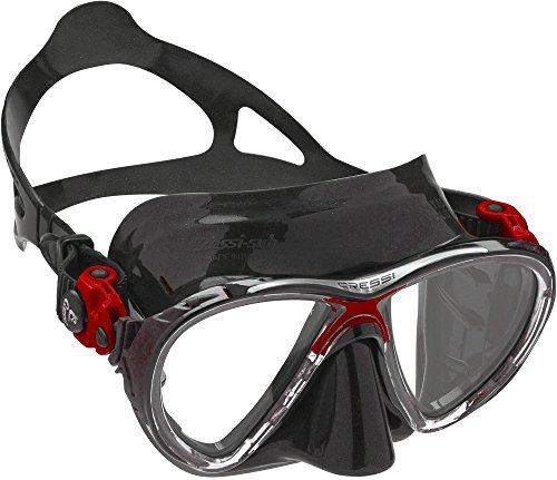 Cressi Big Eyes Evolution Adult Size Scuba Mask-Red / Black