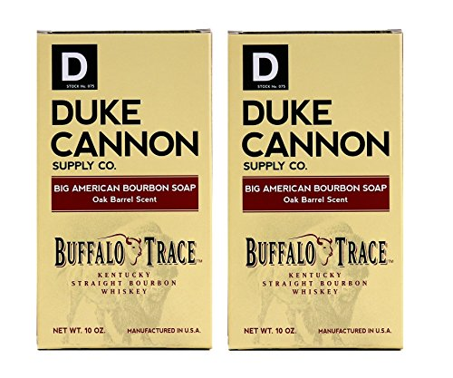 Duke Cannon Bourbon Soap - Buffalo Trace Kentucky Straight Bourbon Whiskey Bar Soap - Oak Barrel Scent, 10oz