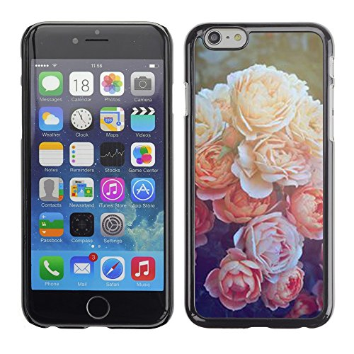 Soft Silicone Rubber Case Hard Cover Protective Accessory Compatible with Apple iPhone? 6+ & 6Plus (5.5 Inch) - peony orange sun nature flower