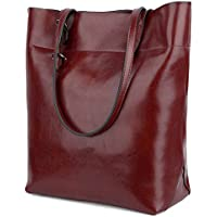 YALUXE Women's Soft Leather Work Tote Shoulder Bag (Upgraded 2.0)