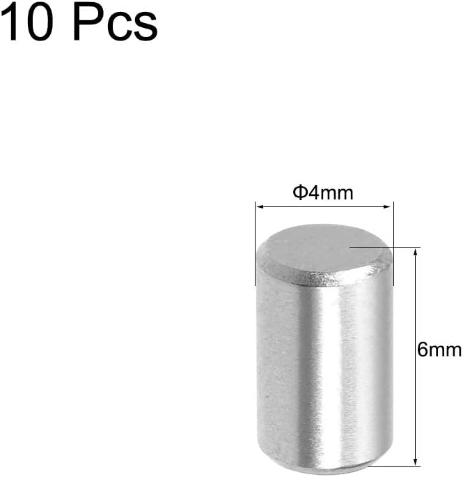 uxcell 10Pcs 3mm x 50mm Dowel Pin 304 Stainless Steel Shelf Support Pin Fasten Elements Silver Tone