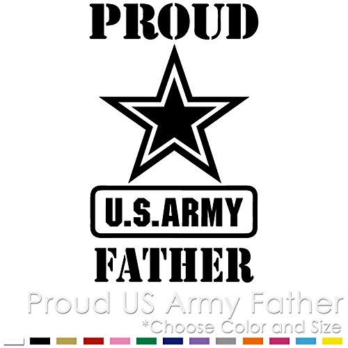 PF-01 Proud US Army Father Vinyl Decal Sticker