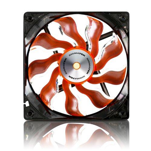 Xigmatek 120mm Orange Blade White LED Copper Bushing Axis Cooling Fan XAF-F1253