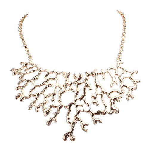 Jane Stone Hot Sale Fashion Vintage Golden Jewelry Tree Branch Necklace Modern Choker Jewelry Trendy Collar Necklaces Top Selling Women's - Womens Fashion Trendy