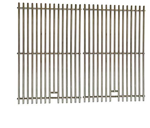 Gas Grill E320 Lp - 9mm Heavy Duty Aftermarket 7528 Stainless Steel Cooking Grates for Weber Genesis E-300 and S-300 Series, 6521301, 3741001, 3741301, 3880001, 6511301 Gas Grills Models, Set of 2