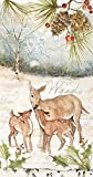 Boston International BF759600 Holiday Guest Towels, Deer Family