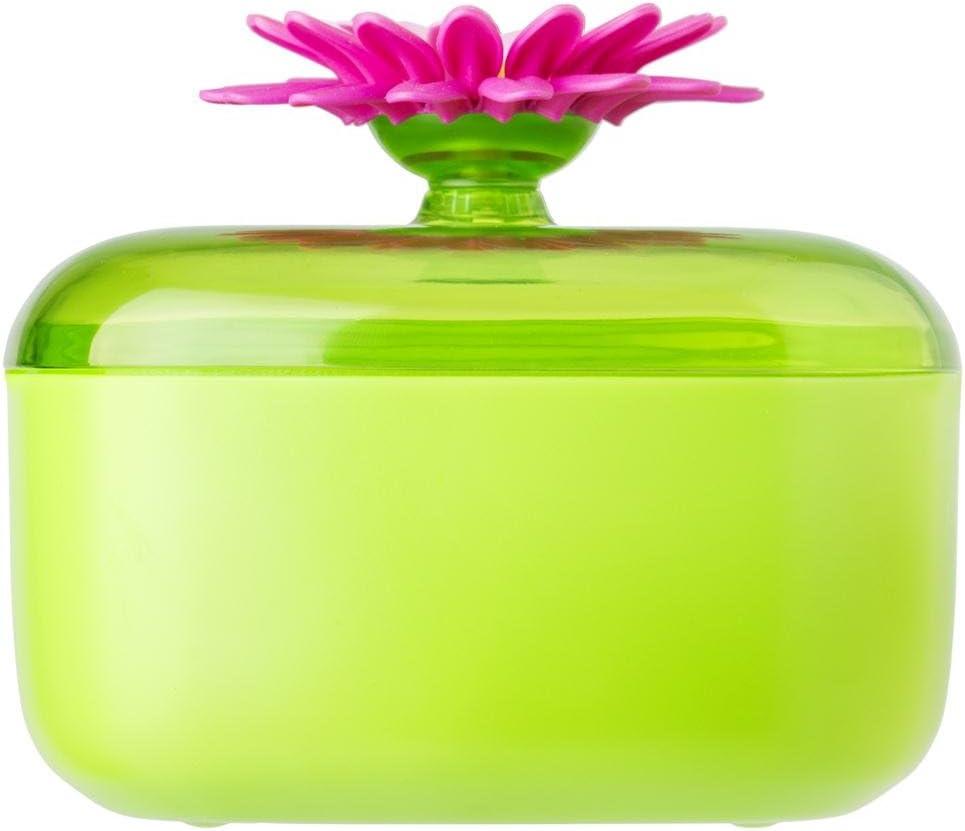 13 x 13 x 10.5 cm VIGAR Flower Power Salero de Cocina Verde//Magenta