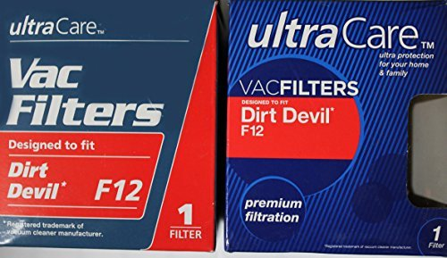 (~NEW~ Ultra Care Vac Filters, Dirt Devil F12 (4 pack) by Ultracare)