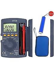 Digital Multimeter, Auto-Ranging Multimeters AC/DC voltmeter Ammeter with Voltage, AC Current Amp Volt Ohm Diode and Resistance Test Tester, Pocket Portable LCD Display Multimeter